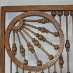 Antique-Victorian-Oak-Ball-And-Stick-Fretwork-24-x-38-12-Circa-1900-192404489052-2