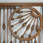 Antique-Victorian-Oak-Ball-And-Stick-Fretwork-24-x-38-12-Circa-1900-192404489052-3