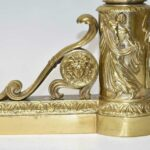 French-Style-Cast-Brass-Figural-Chenets-Andirons-Acanthus-Medusa-Bacchus-193815994802-3