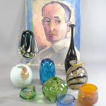 Labino-Studio-Art-Glass-Vase-in-Blue-by-Baker-Signed-and-Dated-1984-264913682712-3
