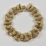 Ladies-18K-White-and-Yellow-Gold-Link-Bracelet-Miriam-193815747872