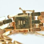 Ladies-18K-Yellow-Gold-Bracelet-Mesh-Link-Italy-264863059862-5