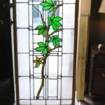 ANTIQUE-STAINED-GLASS-WINDOW-BRANCH-LEAVES-PATTERN-191797259493