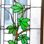 ANTIQUE-STAINED-GLASS-WINDOW-BRANCH-LEAVES-PATTERN-191797259493-2