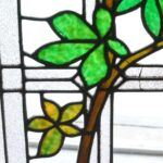 ANTIQUE-STAINED-GLASS-WINDOW-BRANCH-LEAVES-PATTERN-191797259493-3