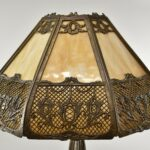 Antique-Bradley-Hubbard-Slag-Glass-Panel-Lamp-Circa-1910-265083692703-3