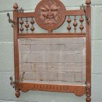 Antique-Carved-Oak-Wall-Coat-Rack-With-Beveled-Mirror-Figural-Mans-Face-194020198723