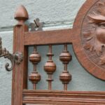 Antique-Carved-Oak-Wall-Coat-Rack-With-Beveled-Mirror-Figural-Mans-Face-194020198723-4