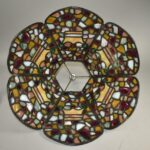Antique-Leaded-Stained-Chunk-Jewels-Glass-Lamp-Shade-Only-193837231723-6