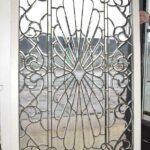 Antique-Vintage-Fully-Beveled-Glass-Window-685-x-37-Framed-Large-Circa-1910-194194078553