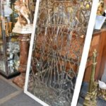 Antique-Vintage-Fully-Beveled-Glass-Window-685-x-37-Framed-Large-Circa-1910-194194078553-9