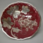 Art-Deco-Silver-Overlay-Footed-Red-Bowl-by-Rosenthal-264914730603