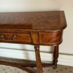 Figured-Walnut-Console-Table-Carved-Dual-Stretchers-265122702013-2