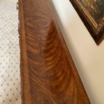 Figured-Walnut-Console-Table-Carved-Dual-Stretchers-265122702013-3