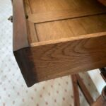 Figured-Walnut-Console-Table-Carved-Dual-Stretchers-265122702013-4