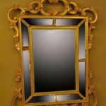 HAND-CARVED-WOOD-GOLD-ITALIAN-BEVELED-MIRROR-192117069123