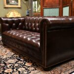 Hancock-Moore-Vintage-Tufted-Leather-Chesterfield-Sofa-Nail-Head-Trim-265207849223-2