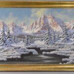 Miklos-Neogrady-Original-Oil-Painting-On-Canvas-Of-Mountain-Snow-Scene-Landscape-262775300613