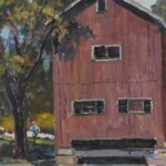 Original-Oil-On-Canvas-Indian-Mill-Scene-Upper-Sandusky-OH-By-Earl-North-193293300053-2