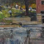 Original-Oil-On-Canvas-Indian-Mill-Scene-Upper-Sandusky-OH-By-Earl-North-193293300053-3