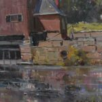 Original-Oil-On-Canvas-Indian-Mill-Scene-Upper-Sandusky-OH-By-Earl-North-193293300053-4