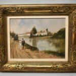 Original-Oil-Painting-By-Italian-Artist-Francesco-Tammaro-River-Scene-194267723873