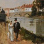 Original-Oil-Painting-By-Italian-Artist-Francesco-Tammaro-River-Scene-194267723873-2