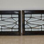 Pair-Vintage-Arched-Beveled-Glass-Windows-Circa-1910-193773794123-2