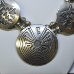 Sterling-Silver-Hopi-Kokopelli-TurtleMan-In-The-Maze-Overlay-Disk-Necklace-193763636253-2