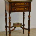 Theodore-Alexander-Burl-Wood-Single-Drawer-Stand-Brass-Gallery-265127644373