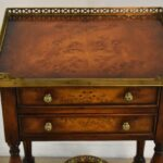Theodore-Alexander-Burl-Wood-Single-Drawer-Stand-Brass-Gallery-265127644373-2