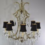 VINTAGE-FRENCH-STYLE-8-ARM-CRYSTAL-CHANDELIER-26-DIAMETER-191653941633-4