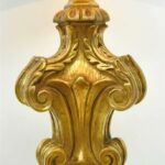 VINTAGE-ORNATE-DESIGNED-GOLD-WITH-BROWN-WASH-TABLE-LAMP-264501948363-2