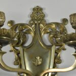 Vintage-Brass-Gothic-Revival-Two-Arm-Wall-Candleholder-191492515013-2