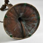 Vintage-Handel-Table-Lamp-Base-With-Three-Hubble-Sockets-Copper-Patina-193852169403-5