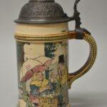 Vintage-Mettlach-12-Liter-2140-Stein-Town-Scene-193997746883