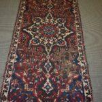 Vintage-Turkish-Oriental-Area-Rug-51-x-110-Blue-Beige-Red-193606830373