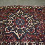 Vintage-Turkish-Oriental-Area-Rug-51-x-110-Blue-Beige-Red-193606830373-2