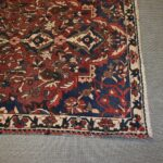 Vintage-Turkish-Oriental-Area-Rug-51-x-110-Blue-Beige-Red-193606830373-3