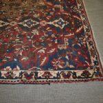 Vintage-Turkish-Oriental-Area-Rug-51-x-110-Blue-Beige-Red-193606830373-5