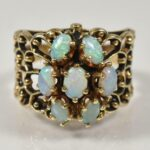 14KYellow-Gold-Opal-Cluster-Ring-Size-8-7-Grams-193930713084