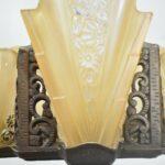 Antique-Art-Deco-Five-Slip-Shade-Chandelier-193711936644-6