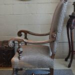 Antique-Carved-Walnut-Upholstered-Side-Chair-Paw-Feet-194042572004-3