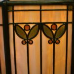 Antique-Handel-Arts-Crafts-Slag-Glass-Panel-Table-Lamp-Shade-Signed-264478634104-4