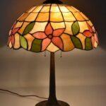Antique-Leaded-Slag-Glass-Lamp-with-Tulip-Design-by-Unique-Art-Glass-Lamp-Co-264909013394-3