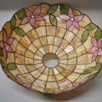 Antique-Leaded-Slag-Glass-Lamp-with-Tulip-Design-by-Unique-Art-Glass-Lamp-Co-264909013394-4