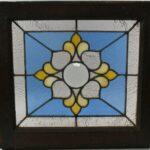 Antique-Stained-Glass-Window-Beveled-Center-Hammered-Back-Blue-LtRose-Rippled-193713321574