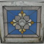Antique-Stained-Glass-Window-Beveled-Center-Hammered-Back-Blue-LtRose-Rippled-193713321574-2