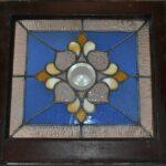 Antique-Stained-Glass-Window-Beveled-Center-Hammered-Back-Blue-LtRose-Rippled-193713321574-3