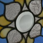Antique-Stained-Glass-Window-Beveled-Center-Hammered-Back-Blue-LtRose-Rippled-193713321574-4